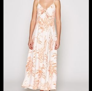NWT Joie Almona Peach Floral Maxi Dress